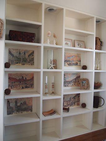 Shelves in Seashell Room