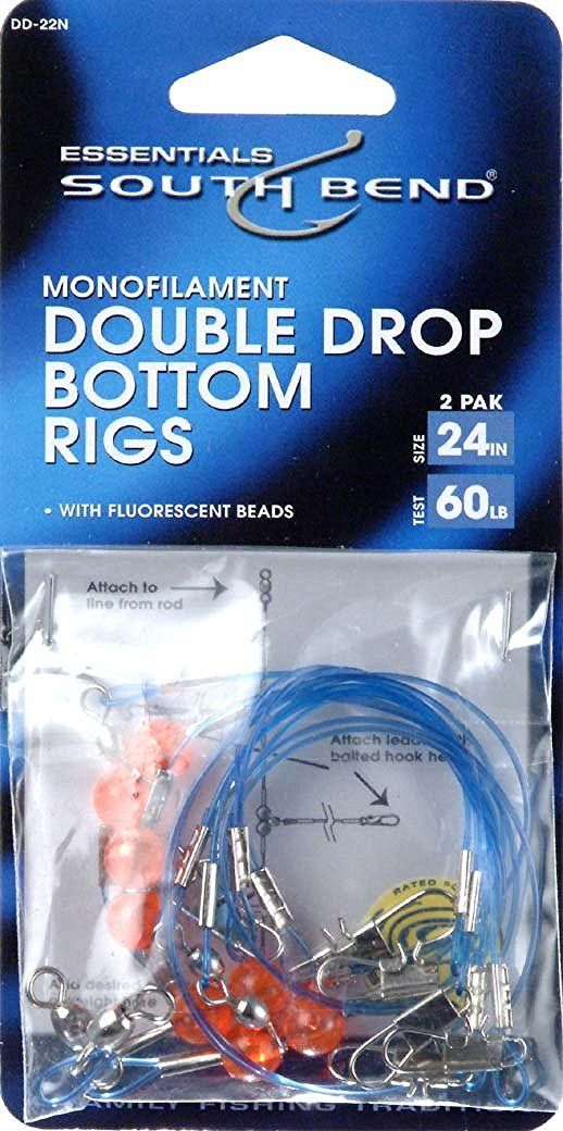 Hurricane 24-Inch Double Drop Bottom Monofilament Rig (2-Pack), 60-Pound *** Click on the image for additional details.