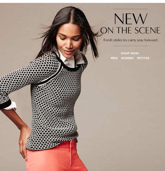 Classic black and white with pops of color! Check out this season's biggest trends for work wear via @Banana Republic