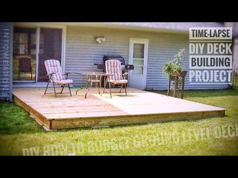 Floating Deck Made Easy Step By Step Instructions For Beginners Plus Stairs Youtube Diy Deck Building A Deck Outdoor Living Deck