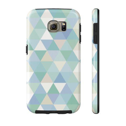 Blue & Green Triangles Phone Case