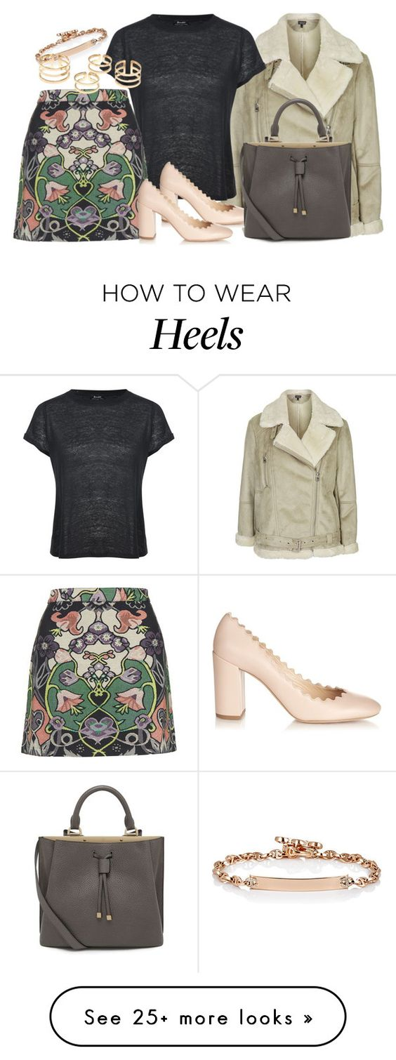 """Untitled #2274"" by erinforde on Polyvore featuring Topshop, Hoorsenbuhs, Brixton, Chloé, Mulberry, women's clothing, women's fashion, women, female and woman"