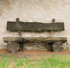 log bench- but without the back to make it look less constructed