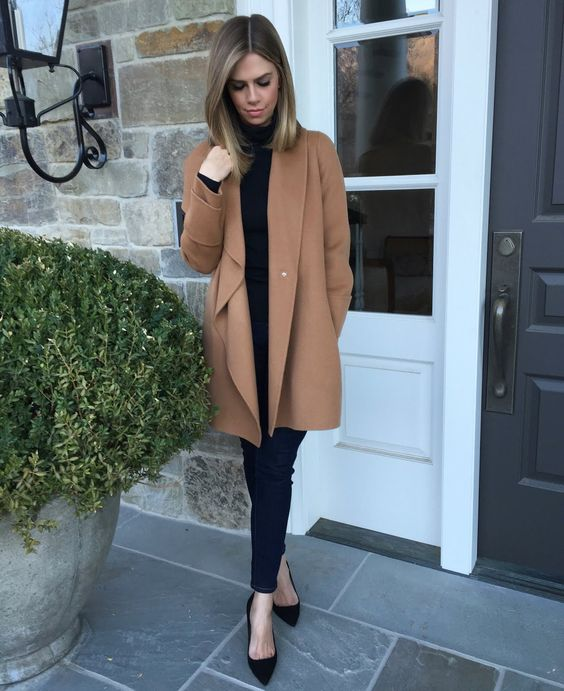 Click Image For All The Secrets To Attract Women! Kensington Way: Outfit: Black and Camel