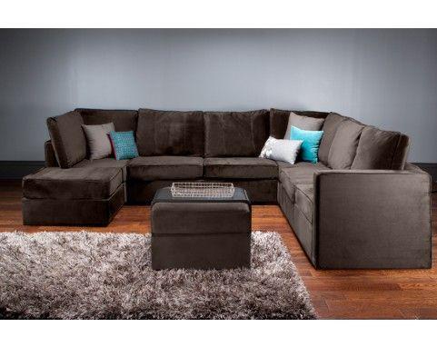 Pillow arrangement for sectional decor ideas pinterest brown couch pillows teal pillows - Brown sofa with blue pillows ...