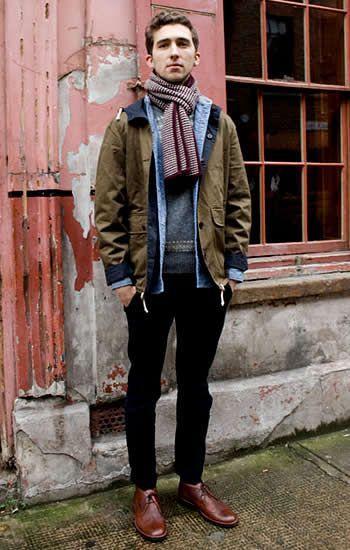 Hoodie+Denim shirt | No:34530 | MENS FASHION STYLE NET: Men's Style Guide Tips And Men's Fashion
