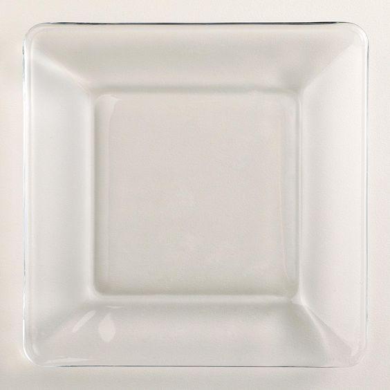 Tempo Square Glass Dessert Plate | World Market