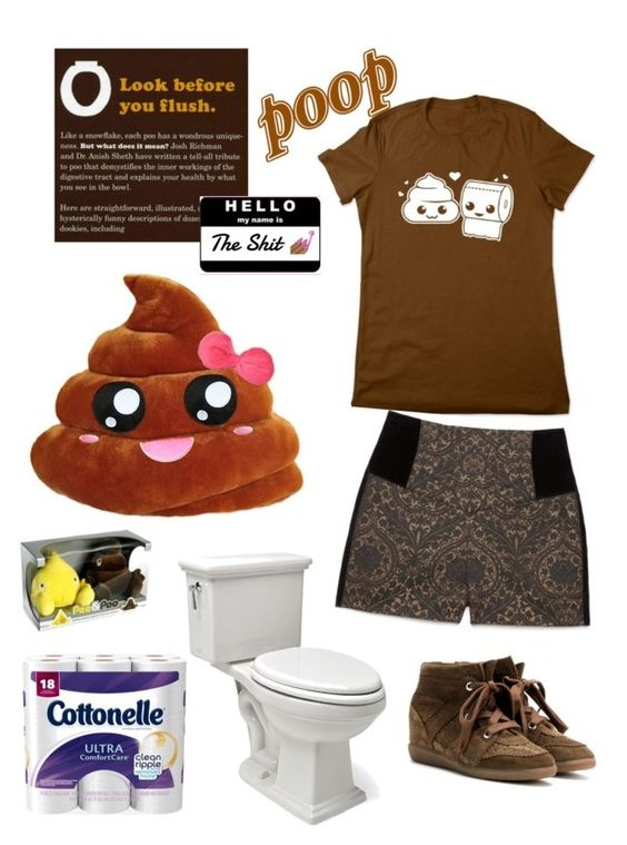Poop Mood by kayearnold on Polyvore featuring polyvore fashion style Bebe Isabel Marant Waterworks Chronicle Books