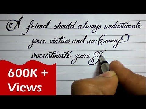 Beautiful English handwriting styles   English neat and ...