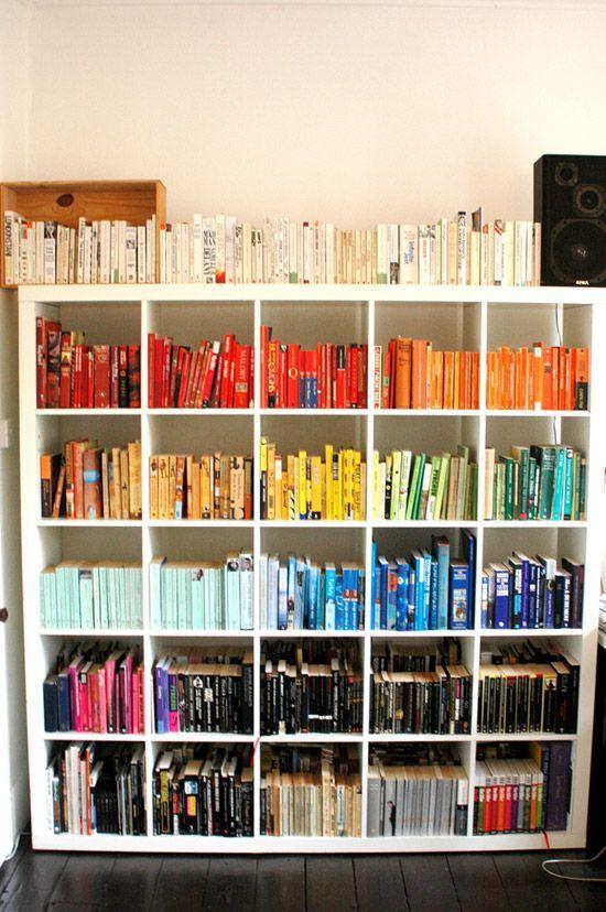 Color Bookshelf Photos
