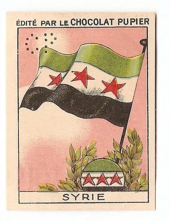 Syrie - - Drapeau Flag Etat Pays - - Image Chocolat Pupier 1938