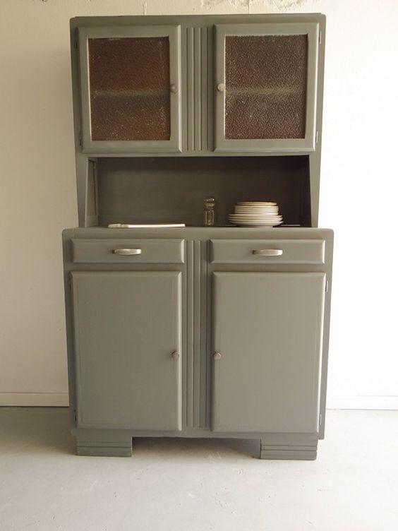 Buffet mado gris vert pour cuisine et salle manger for Salle a manger vert