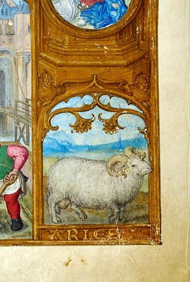 Zodiac Sign: Aries | Breviary | Belgium, Bruges | ca. 1500 | The Morgan Library & Museum