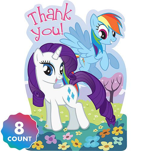 My Little Pony Friendship Party Thank You notes 8 ct