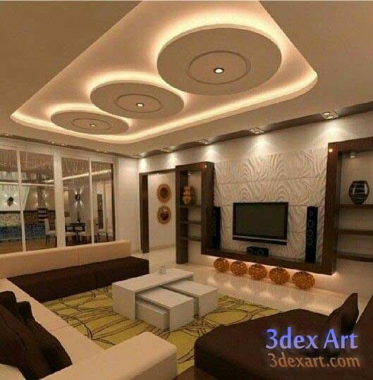 New Design For Living Room image of cool contemporary living room decorating ideas Modern False Ceiling Designs For Living Room And Hall 2018 With Led Lighting Ideas Ceiling Designs 2018 New Ideas For False Ceiling Designs For L