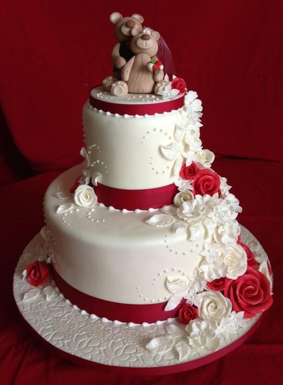 Siloutte Wedding Cake