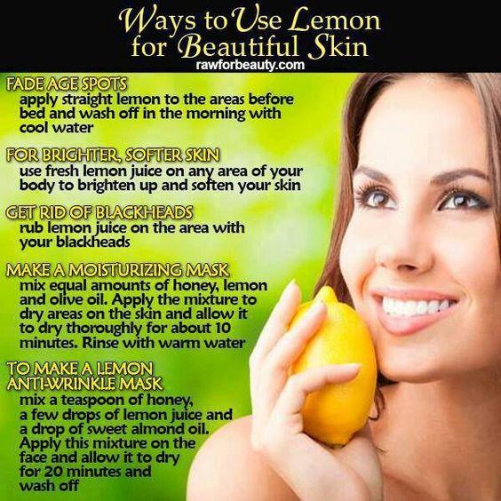 Ways to use lemon on the skin