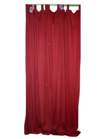 2 Crimson Red Sari Curtains Drapes Window Panels Tab Top 108: Home ...