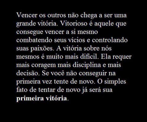 Post  #FALASÉRIO!  : O  FATO DE UMA NOVA TENTATIVA , JÁ UMA GRANDE VITÓ...