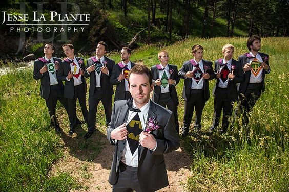 Jesse La Plante Photography   Greenbriar  Inn Wedding   Boulder, CO   Superhero groomsmen