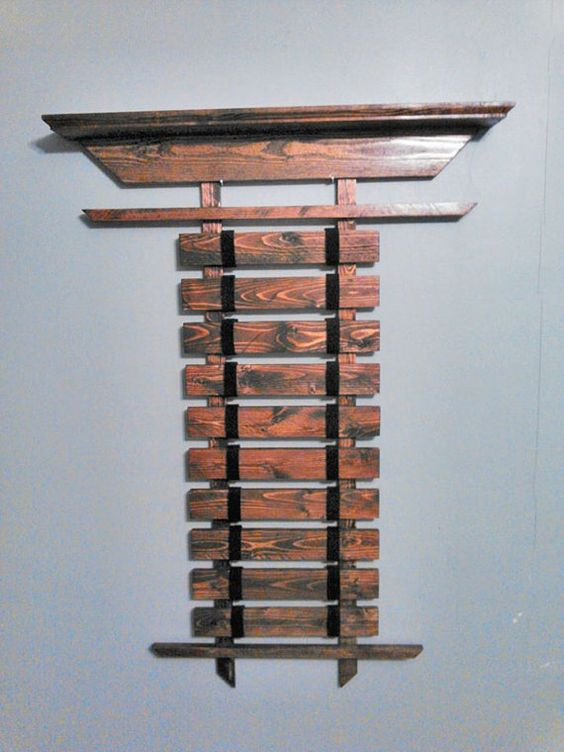 Martial Arts Wall Belt Display With shelf by YoungDavesPlace