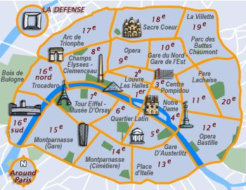 Where To Stay In Paris A Guide To The Arrondissements Travel - Paris map neighborhoods