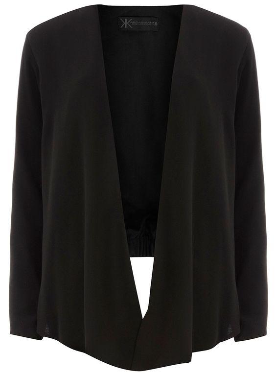 Kardashian black soft blazer        Was £42.00