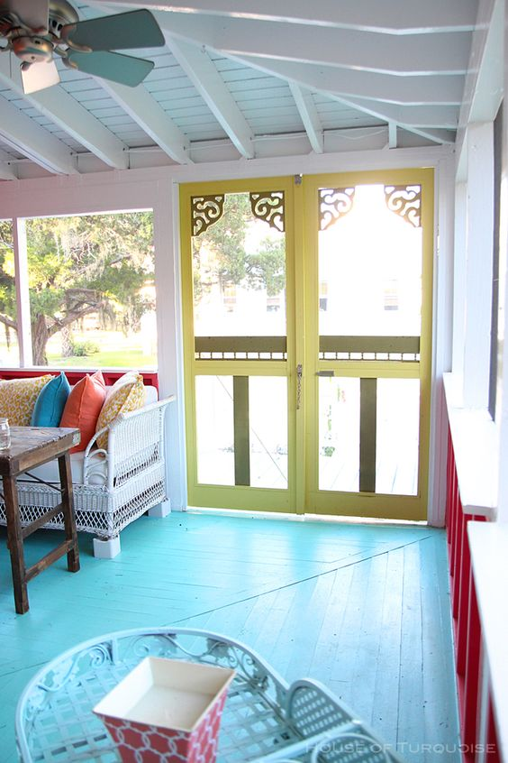 Ceiling Fan color (Painted)   House of Turquoise: Sundew Cottage - Tybee Island, GA: