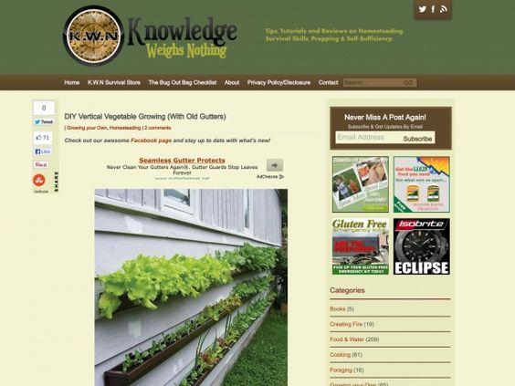 DIY Vertical Vegetable Growing (With Old Gutters)