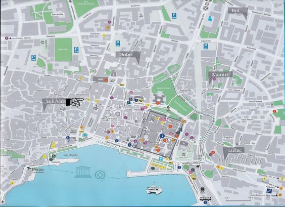 Split city tourist mapold town – Croatia Tourist Map