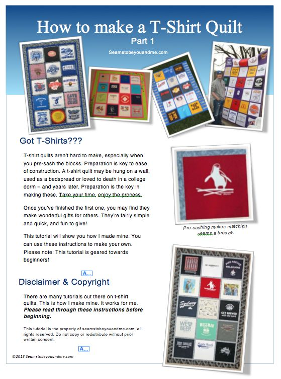 T-Shirt Quilt Tutorial for beginners Sew Sew Pinterest To be, Cas and Quilt
