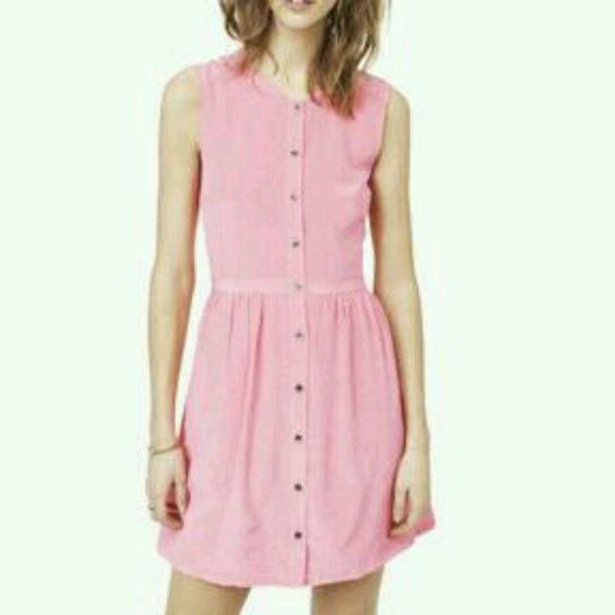 Madewell pink denim dress