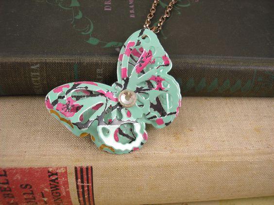 Recycled Soda Can Art   TRENDY 30 inch Butterfly by jillmccp, $12.95