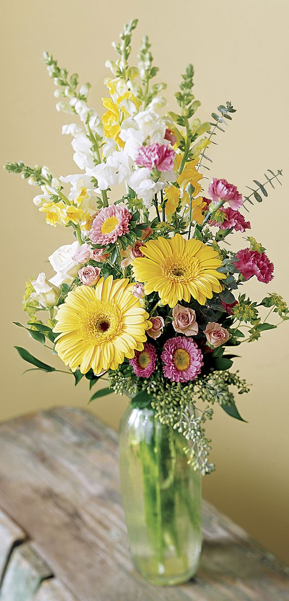 Beautiful floral arrangements and spring on pinterest