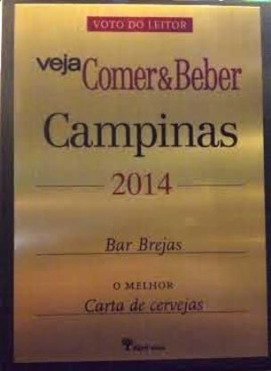 Acaba de ser divulgadoresultado de enquetepopular online promovida pela revista Veja Campinas Comer & Beber, que premia anualmente bares e