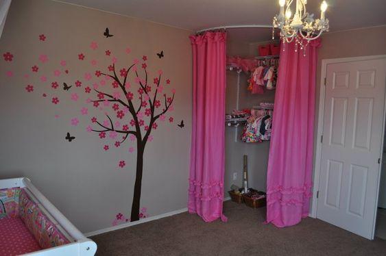 Great Nursery Idea Immediate Walk In Closet With Curtains