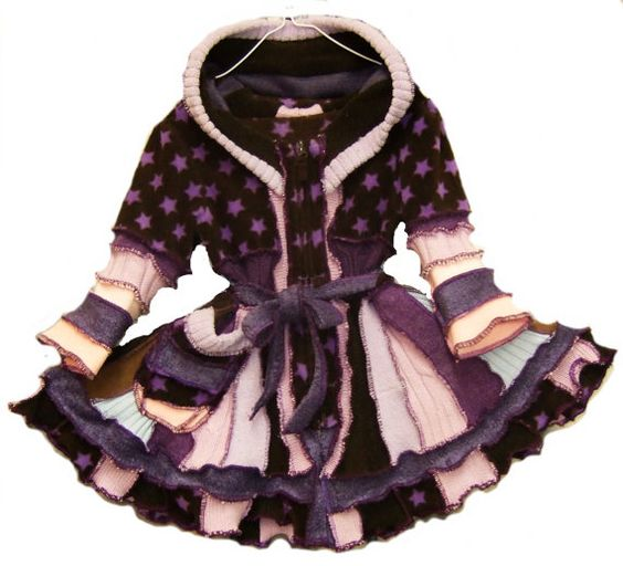 upcycle clothing kid clothes cOAT children sweater knitting