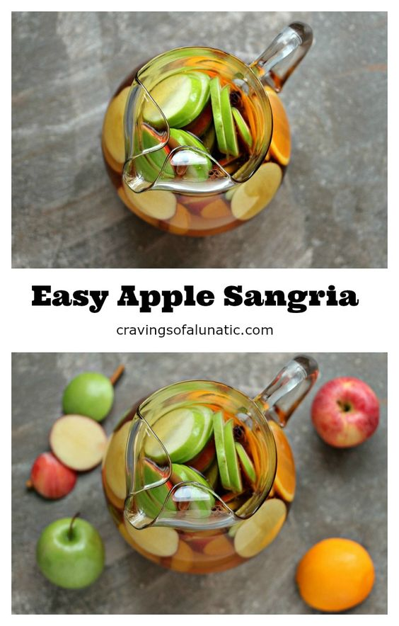 Easy Apple Sangria from cravingsofalunatic.com- Easy apple sangria you ...
