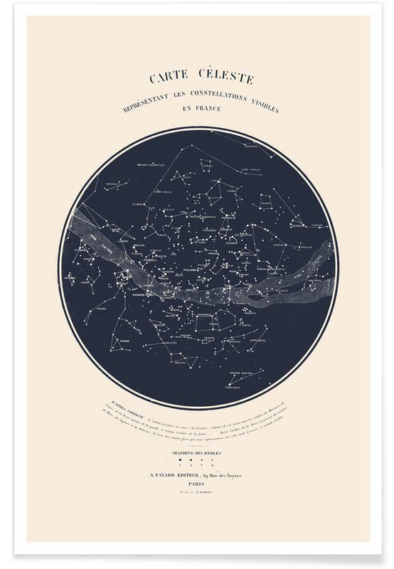 Carte Du Ciel As Poster By Aster Juniqe Uk Carte Du Ciel Ciel