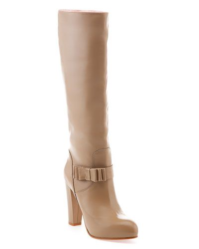 RED Valentino Leather Tall Boot