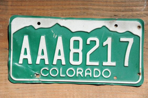 Colorado License Plate Number AAA8217    #VintageColorado #VintageCoPlate #colorado #GreenAndWhite #AAA8217 #ColoradoAaa8217 #LicensePlate #CoLicensePlate #ColoLicensePlate #RockyMountains