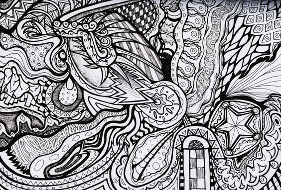 Trippy Designs Colouring Pages