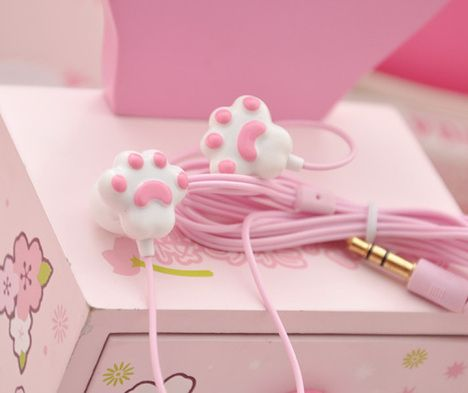 kawaii paw headphones <3 <3