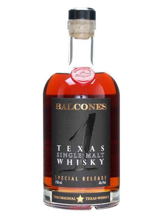 Balcones '1' Texas Single Malt : Buy Online - The Whisky Exchange - A single malt whiskey made in Texas by craft distilling powerghouse Balcones. It appeared in July 2011 and has been picking up awards ever since.