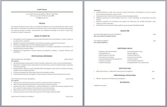 Junior Tax Accountant Resume Accounting Resume Samples Pinterest - cruise attendant sample resume