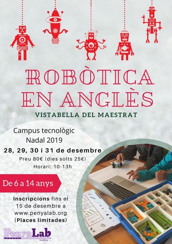 Robòtica en anglès – Campus tecnològic Nadal 2019 a Vistabella