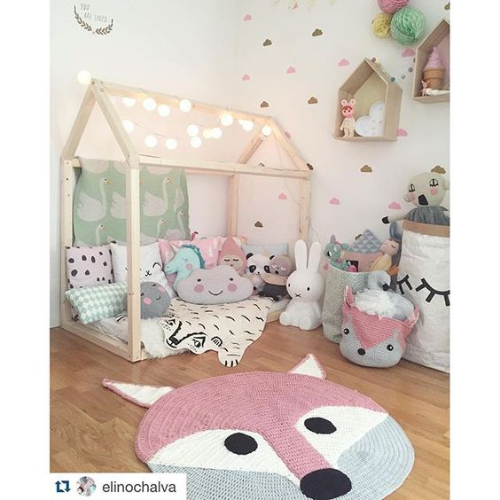 House beds cute kids and kids rooms on pinterest for Little kids room