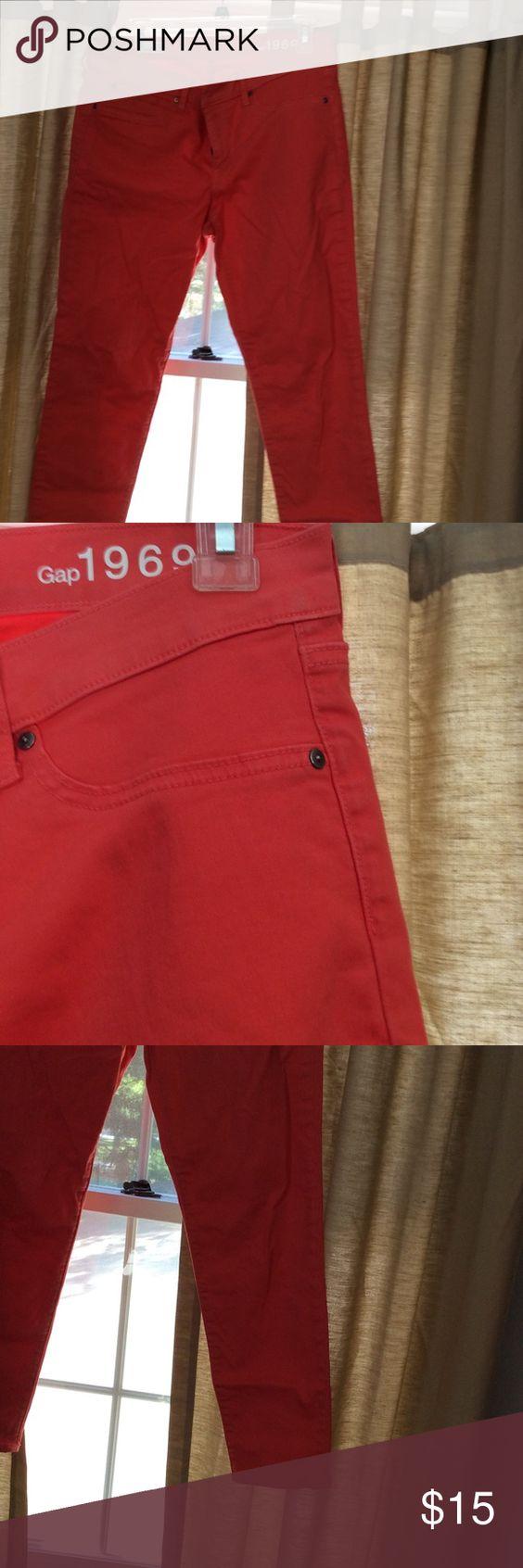 Skinny jeans Gap orange tangerine skinny jeans GAP Jeans Skinny
