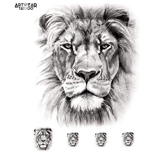 Realistische Lowenkopf Zeichnung Tattoo Vorlage 11