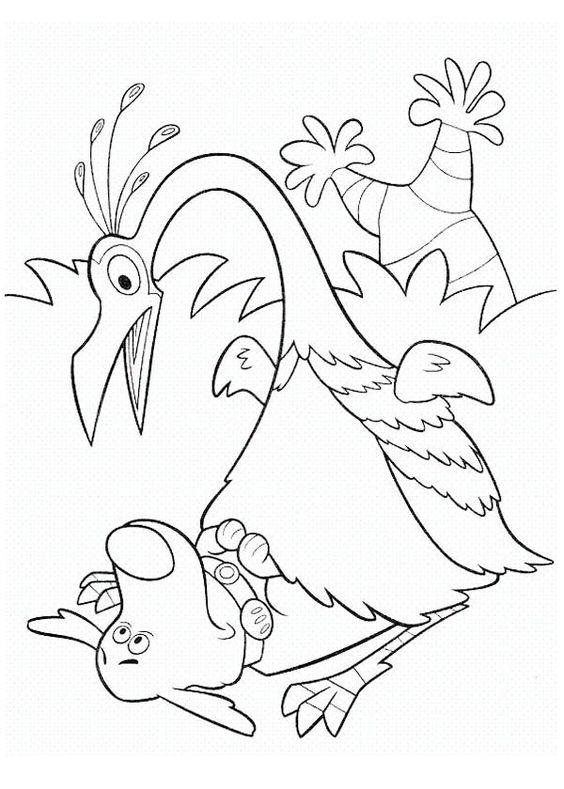 Kevin Surprised To See Dug In Disney Up Coloring Page Netart Cartoon Coloring Pages Horse Coloring Pages Pokemon Coloring Pages